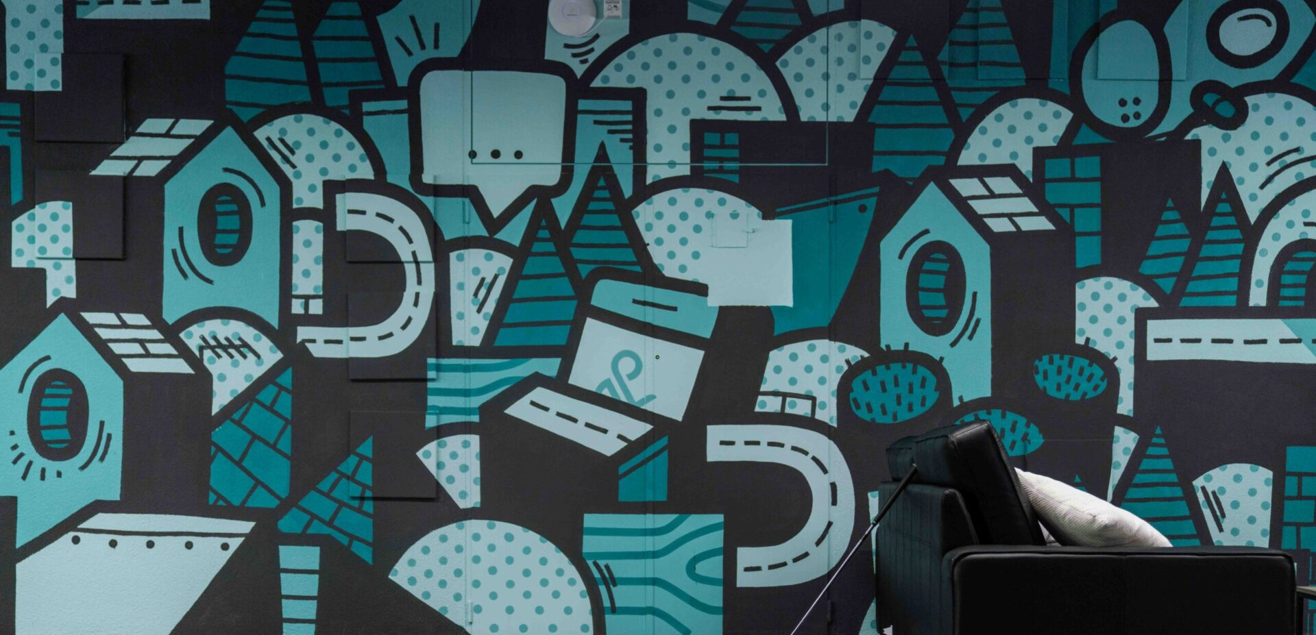 Kunstwerk von Dominik Rüegg im ads&figures Büro